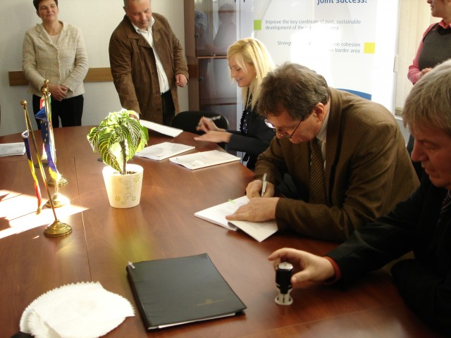 The ceremony of signing the first contracts